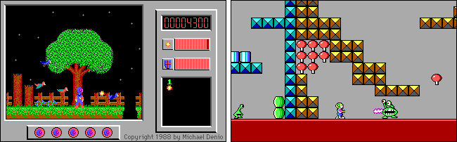 "Scenes from the ""Captain Comic"" and ""Commander Keen"" games."
